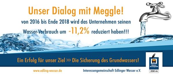 Unser Dialog mit Meggle! 11,2% Wasserersparnis in 2017/2018